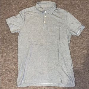 SMALL Grey Thin-Striped H&M Polo